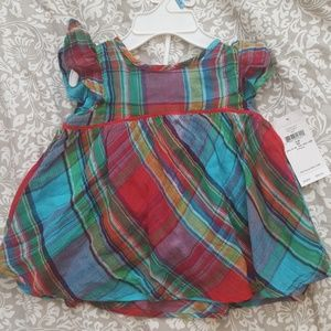 Ralph Lauren New Plaid Cotton Dress & Bloomers NWT